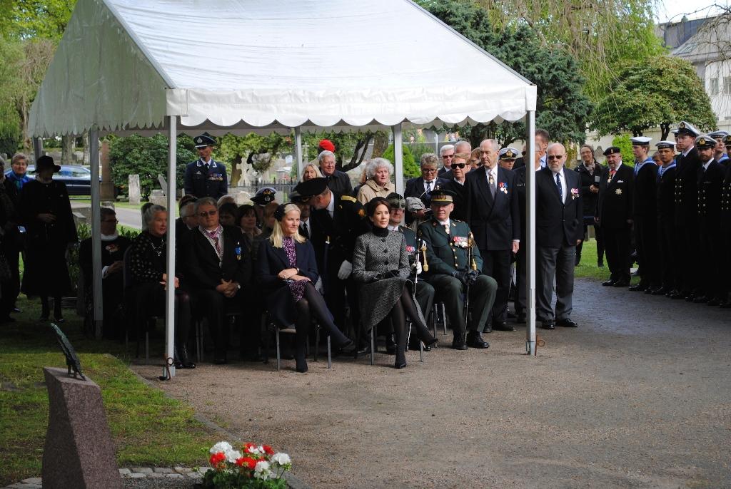 Minneseremonien på Kristiansand Kirkegård