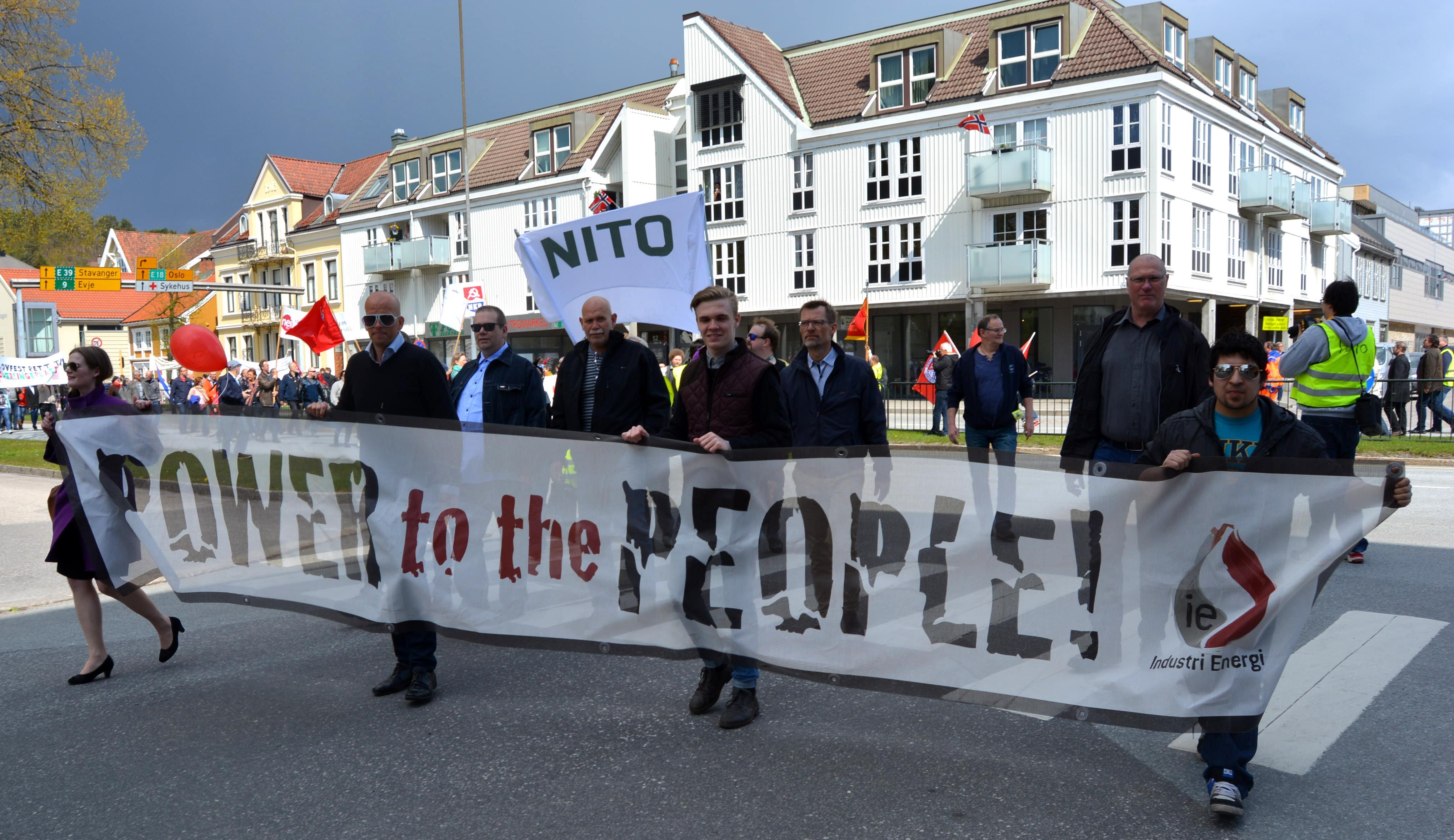 1. mai-demo i Kristiansand
