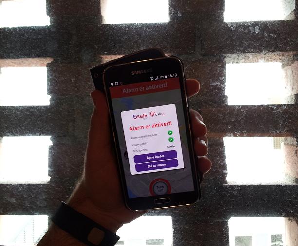 Alarm til sentral med premium-appen