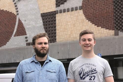Leder Jon Henrik Thorvildsen og nestleder i studentforeningen Studenthus til sentrum ønsker at huset skal drives frivillig av studenter.