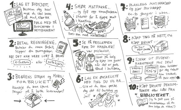 10 tips: Slik overlever du på studentbudsjett