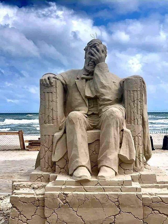 En skuffet Abraham Lincoln